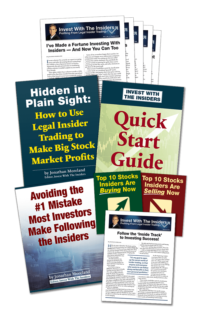 How To Use Legal Insider Trading To Make BIG Profits, By Jonathan Moreland